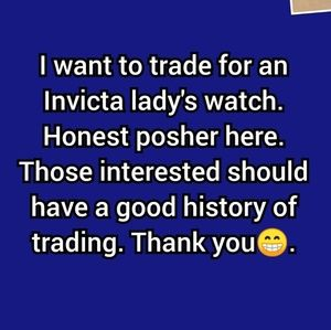 Accessories - Looking for Invicta lady's watch